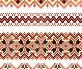 cross stitch patterns 03 vector
