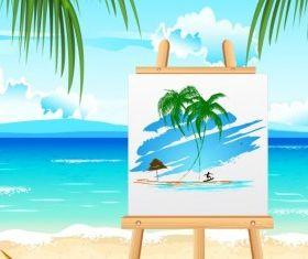 Summer landscape vectors