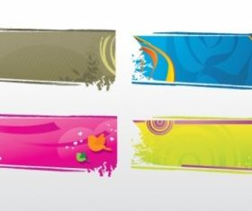 Banners collection free vector