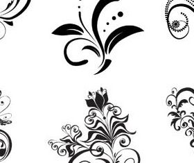 Floral Ornament Elements Mix 21 set vector