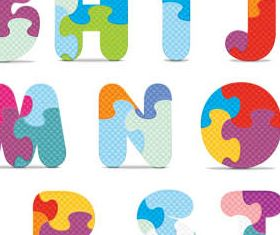 Creative Colorful Alphabets vector