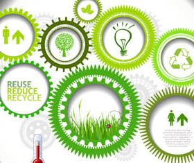 Ecology Infographic Backgrounds 2 vector graphics