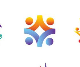 Abstract People Logotypes creative vector