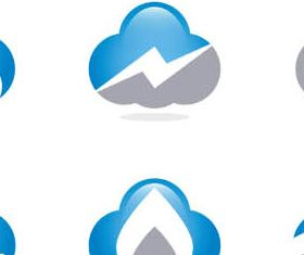 Stylish Clouds Logo vector
