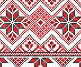 cross stitch patterns 10 vector