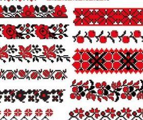 cross stitch patterns 07 vector