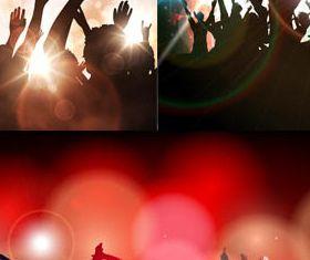 Dance Party Backgrounds 4 vectors