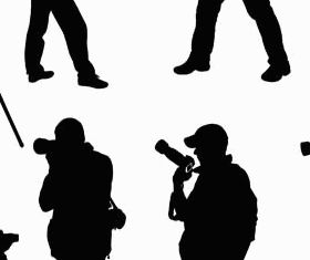 Silhouettes photographers vector