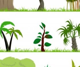 trees theme vector graphics