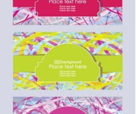 fashion label background 02 set vector