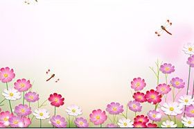 Dragonfly in Flower garden vector