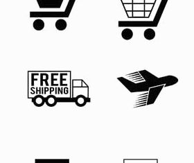Delivery Icons graphic design vectors