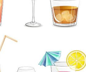Cocktails graphic vector