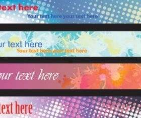 dynamic banners 04 vector