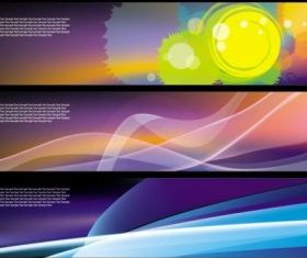 dynamic banners 02 vector
