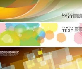 dynamic banners 01 vector