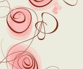 fashion handpainted flowers 5 vector