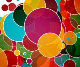 Colorful Circles Abstract Background vectors