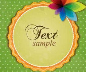 Colorful Retro Card Graphic Illustration vector
