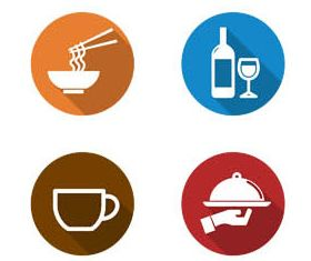 Food Flat Icons creative vector