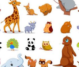 Cartoon Animals 2 vector