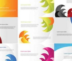 Color Business Cards Templates vector
