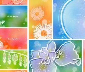 color soft floral background Illustration vector