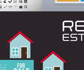 Real Estate Backgrounds 9 vector
