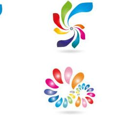 Abstract Shiny Logotypes 3 vector