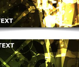 Dark Abstract Banners Set vector