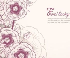 elegant floral background 02 vectors graphic