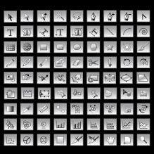 CS5 tool icon vector design