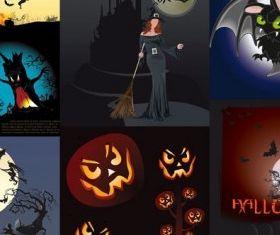halloween theme vector graphics