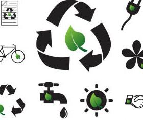 Recycle Icons free vector