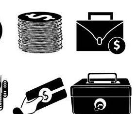 Black Banking Icons 3 vectors