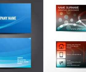 Business Cards Set 8 shiny vector