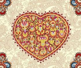 heartshaped valentines card 05 vector
