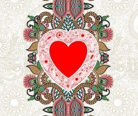 heartshaped valentines card 03 vectors