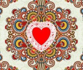 heartshaped valentines card 01 vector