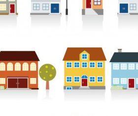 cartoon housing 02 vector