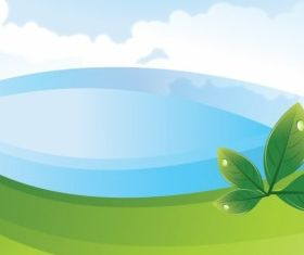 Abstract Nature Scene free vector