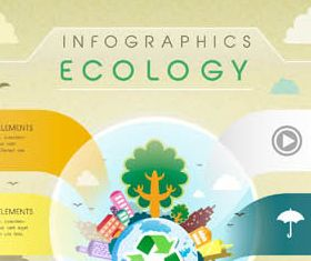 Ecology Infographics Set 3 vector