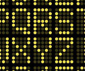 Digital Alphabets free shiny vector