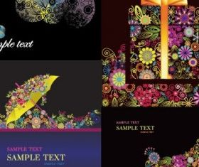 colorful flower theme vector