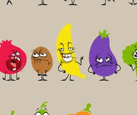 Cartoon Vegetables creative vector