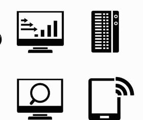 Black Network Icons Mix vector design