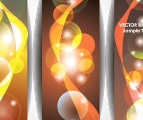 bright halo banner 03 vector design