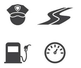 Roads Black Icons free vectors graphics