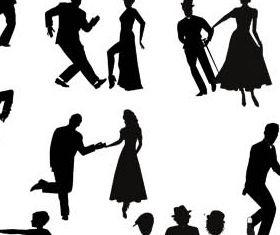 Dancing People Set 3 vector