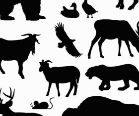 North American Animals vectors graphics